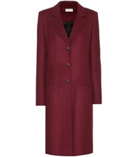 Balenciaga Wool Blend Coat Red