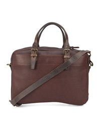 Bleu De Chauffe Burgundy Folder Tanned Leather Briefcase
