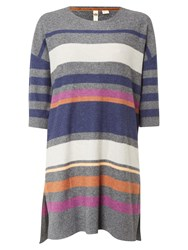 White Stuff Tarragon Stripe Tunic Orange