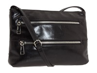 Hobo Mara Black Vintage Leather Cross Body Handbags