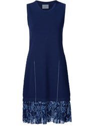 Grey Jason Wu Bunny Print Hem Knit Dress Blue