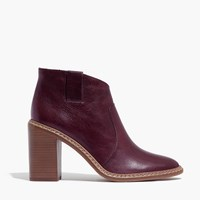 Madewell Pre Order Rivet And Thread Ankle Boots Dark Cabernet