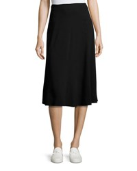Theory Zimri Crepe Midi Skirt Black