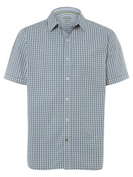 White Stuff Men's Heartland Check Short Sleeve Shirt Blue