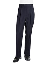 Palm Beach Cory Pleated Suit Pant Navy