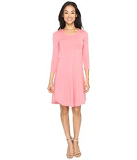 Mod O Doc Cotton Modal Spandex Jersey Crescent Empire Seam Dress Guava Women's Dress Pink