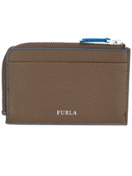 Furla Giove Credit Card Holder Men Calf Leather One Size Brown