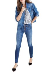 Madewell Women's High Waist Skinny Jeans Button Through Edition