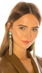 Elizabeth Cole Tina Earrings In Blue. Turquoise