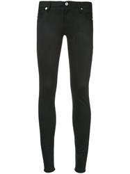 7 For All Mankind Slim Fit Trousers Black