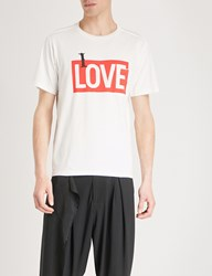 The Soloist I Love Cotton Jersey T Shirt White