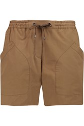 Brunello Cucinelli Cotton Twill Shorts Brown