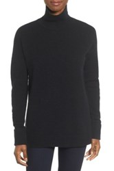 Halogen Mock Turtleneck Sweater Petite Black