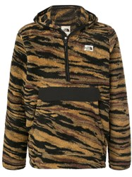 The North Face Campshire Tiger Stripes Hoodie Yellow