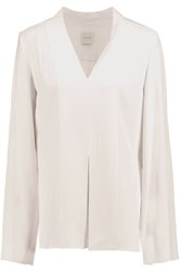 Dion Lee Spiral Cape Effect Crepe Top Ivory