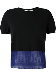 Victoria Beckham Layered Knit T Shirt Black