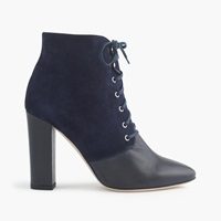 J.Crew Adele Suede Lace Up Boots Navy