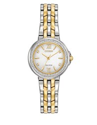 Citizen Two Toned Stainless Steel Bracelet Watch Em0444 56A