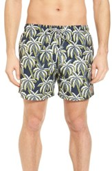 Ted Baker London Hoppah Palm Print Swim Shorts Navy