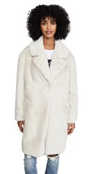 Adrienne Landau Faux Fur Tailored Jacket Sand