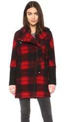 Madewell City Grid Coat Holiday Plaid