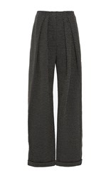 Vika Gazinskaya Pleated Wool Jersey Pants Dark Grey