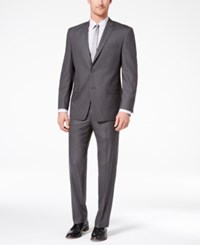 Marc New York By Andrew Men's Classic Fit Stretch Medium Gray Solid Suit Med Gray