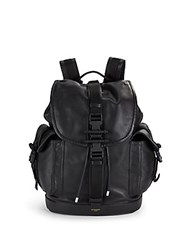 Givenchy Buckle Closure Leather Backpack Black