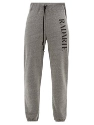 Rodarte Radarte Print Fleece Back Jersey Track Pants Grey