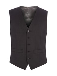 Pierre Cardin Men's Jack Charcoal Twill Performance Vest Charcoal