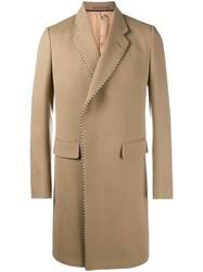 Gucci Double Breasted Coat Nude And Neutrals