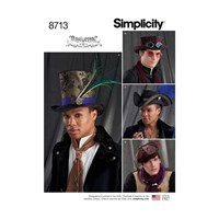 Simplicity 'S Pirate And Top Hats Sewing Pattern 8713