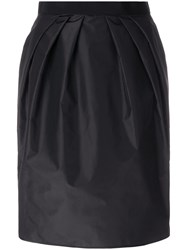Giambattista Valli Gathered Waist Skirt Silk Cotton Viscose Black