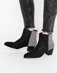 Religion Time Ankle Boots Black White Multi