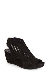 Vaneli Women's 'Inez' Wedge Sandal Black Suede