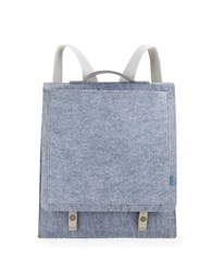 M R K T Mateo Felt And Faux Suede Backpack Elephant