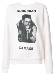 Enfants Riches Deprimes 'Suburban Damage' Sweatshirt White