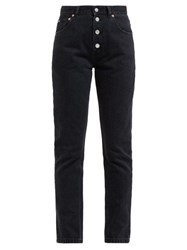 Balenciaga Tube High Rise Straight Leg Jeans Black