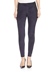 Elie Tahari Madeline Faux Suede Leggings Midnight
