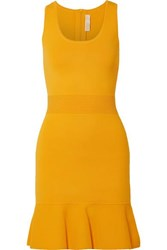 Michael Michael Kors Fluted Stretch Knit Mini Dress Saffron