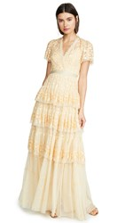 Needle And Thread Angelica Lace Gown Washed Yellow
