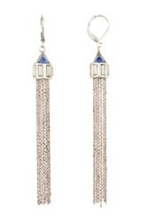 Vince Camuto Long Chain Tassel Earrings Metallic