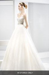 Women's Jes S Peir Strapless Sweetheart Tulle Ballgown In Stores Only
