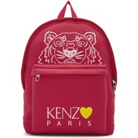 Kenzo Pink Limited Edition Large Tiger Backpack