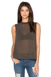 Enza Costa Sleeveless Trapeze Top Green