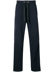 Iceberg Logo Stripe Track Trousers Blue