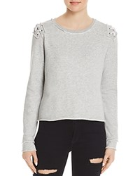 Generation Love Laurie Lace Up Sweatshirt Gray