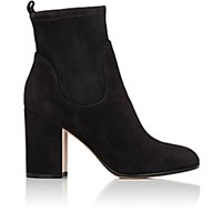Gianvito Rossi Women's Chunky Heel Suede Ankle Boots Dark Grey