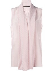 Haider Ackermann Shawl Collar Blouse Pink And Purple