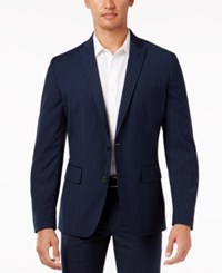 Inc International Concepts Men's Stripe Blazer Only At Macy's Navy